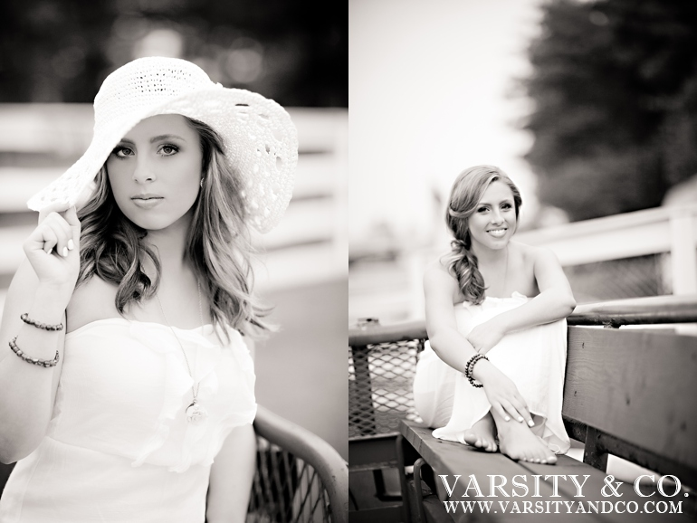 girl in a derby hat senior pictures