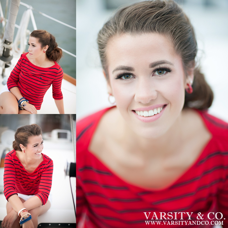Nautical Stripes Senior Session